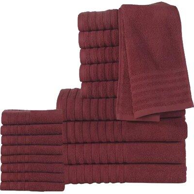 18 Piece Towel Set Color: Biking Red