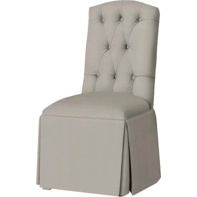 Pearce Diamond Tufted Skirted Side Chair Upholstery: Pewter