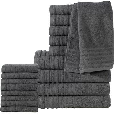 18 Piece Towel Set Color: Gray