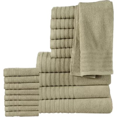 18 Piece Towel Set Color: Taupe