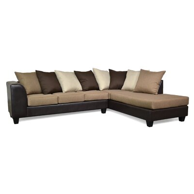 Burwood Sectional Upholstery: Jitterbug Pecan / San Marino Chocolate / Oscar Lin