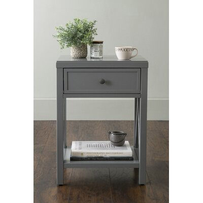 Laurel End Table With Storage� Color: Gray