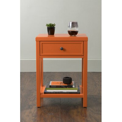 Laurel End Table With Storage� Color: Burnt Orange
