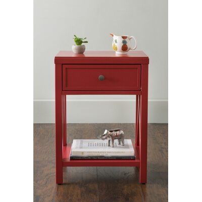 Laurel End Table With Storage� Color: Red