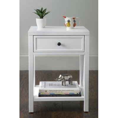 Laurel End Table With Storage� Color: White