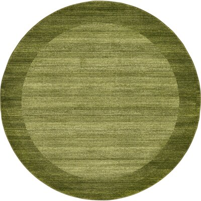 Napoli Green Area Rug Rug Size: Round 6