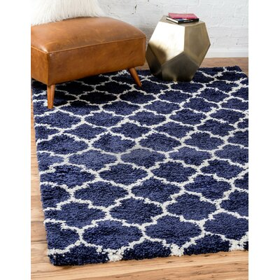 Cynthiana  Navy Blue Area Rug Rug Size: Rectangle 5 x 8