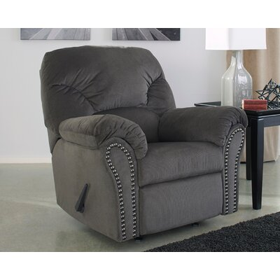 Barwood Manual Rocker Recliner Upholstery: Charcoal
