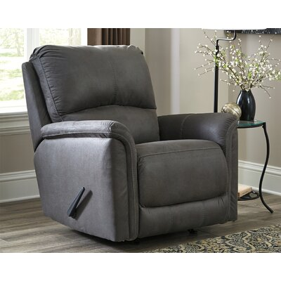 Battle Creek Manual Rocker Recliner Upholstery: Gray