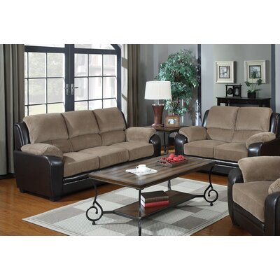 Gilberte 2 Piece Living Room Set Upholstery: Light Brown