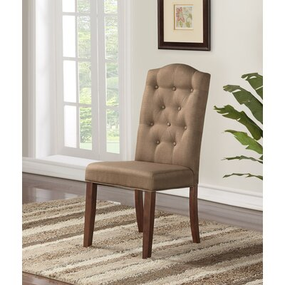 Defreest Traditional Button Tufted Upholstered Dining Chair