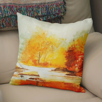 Paxtonville Stream Throw Pillow Size: 18 H x 18 W x 6 D