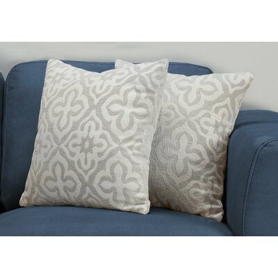 Silpa Contemporary Throw Pillow Color: Light Gray