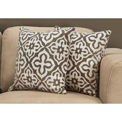 Silpa Contemporary Throw Pillow Color: Taupe
