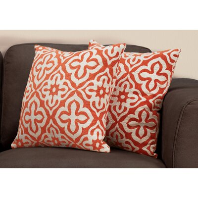 Silpa Contemporary Throw Pillow Color: Orange