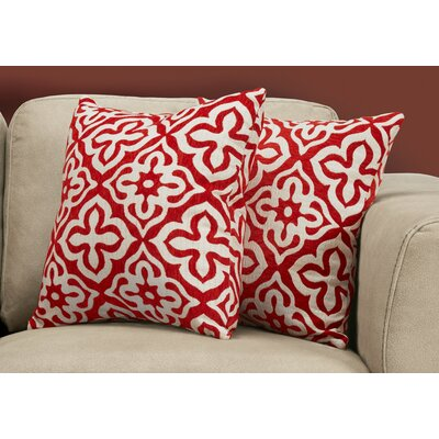 Silpa Contemporary Throw Pillow Color: Red