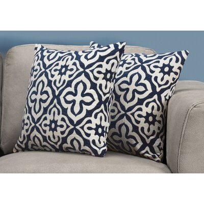 Silpa Contemporary Throw Pillow Color: Blue