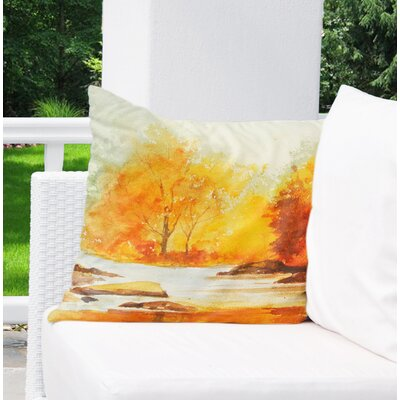 Paxtonville Stream Outdoor Throw Pillow Size: 26 H x 26 W x 6 D