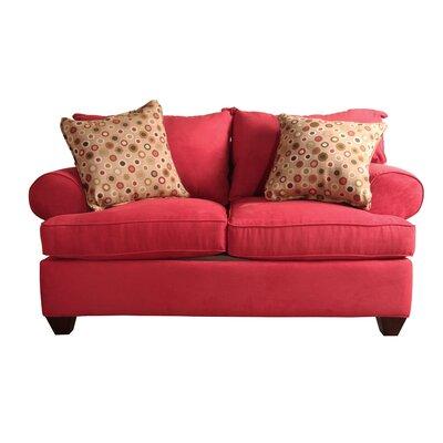 Charo Loveseat Upholstery: Blaze Red
