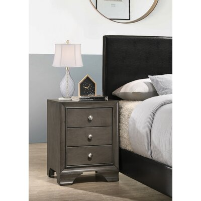 Cleckley 3 Drawer Nightstand Color: Gray