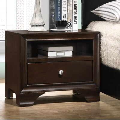Cleckley 1 Drawer Nightstand Color: Espresso