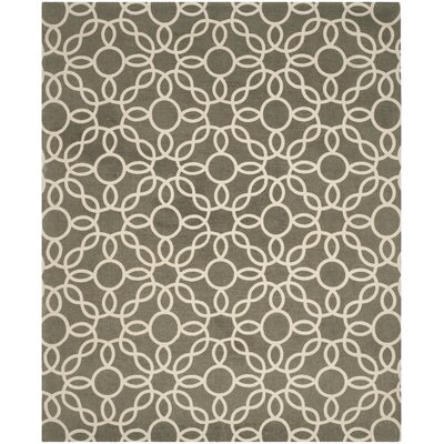 Beyers Hand-Loomed Gray/Ivory Area Rug Rug Size: Rectangle 8 x 10