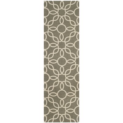 Beyers Hand-Loomed Gray/Ivory Area Rug Rug Size: Runner 23 x 8