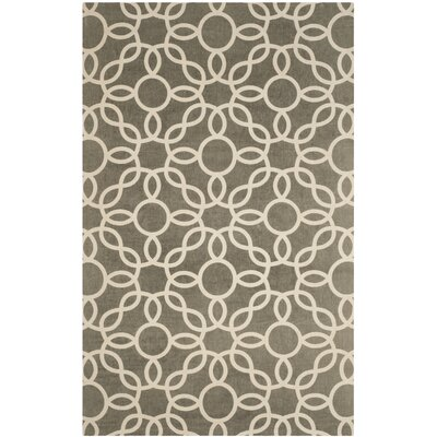 Beyers Hand-Loomed Gray/Ivory Area Rug Rug Size: Rectangle 6 x 9