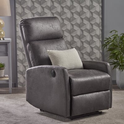 Deedee Power Recliner Color: Slate Microfiber