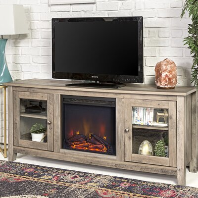 Inglenook 58 TV Stand with Fireplace Finish: Gray Wash