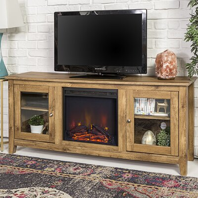 Inglenook 58 TV Stand with Fireplace Finish: Barnwood