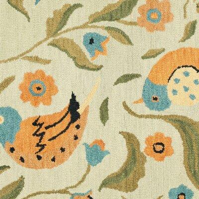 Alston Blossom Bird Sage Rug Rug Size: Square 6'