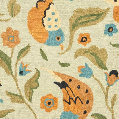 Alston Blossom Bird Sage Rug Rug Size: Rectangle 4 x 6