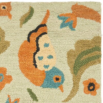 Alston Blossom Bird Sage Rug Rug Size: Rectangle 26 x 4