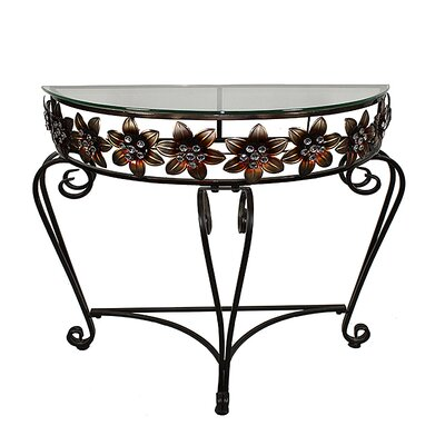 Adonia Metal Flowers End Table