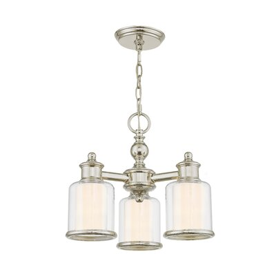 Lisle 3-Light Shaded Chandelier Finish: Polished Nickel