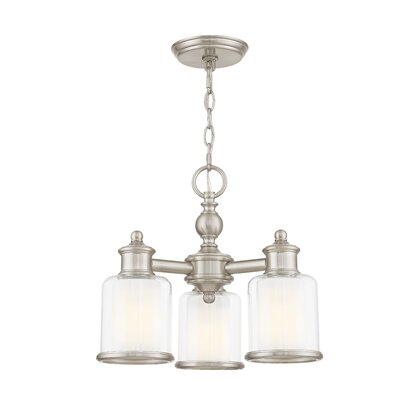 Lisle 3-Light Shaded Chandelier Finish: Brushed Nickel