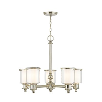 Lisle 5-Light Candle-Style Chandelier Finish: Polished Nickel