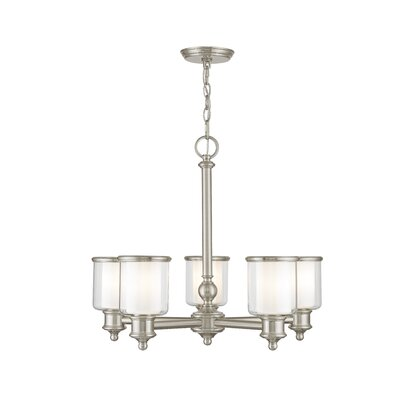 Lisle 5-Light Candle-Style Chandelier Finish: Brushed Nickel