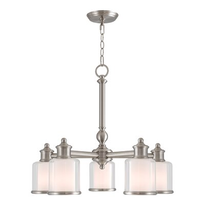 Lisle 5-Light Shaded Chandelier Finish: Brushed Nickel