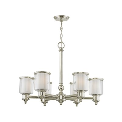 Lisle 6-Light Candle-Style Chandelier Finish: Polished Nickel