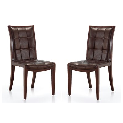 Casolino Upholstered Dining Chair Upholstery: Chocolate