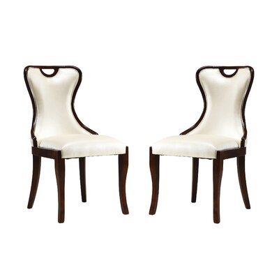 Cateline Upholstered Dining Chair Upholstery: Cream