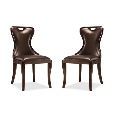 Cateline Upholstered Dining Chair Upholstery: Chocolate Brown