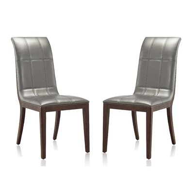 Caseareo Upholstered Dining Chair Upholstery: Silver