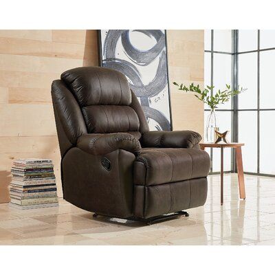 Dearing Manual Rocker Recliner Upholstery: Gray