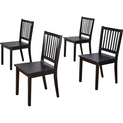 Jeane Solid Wood Dining Chair Color: Black