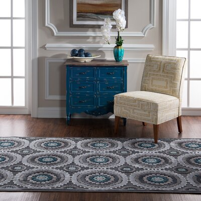 Cashion Cylinder Gray Area Rug Rug Size: Rectangle 5 x 76