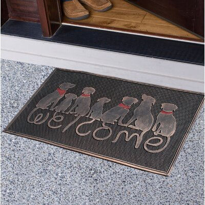 Benton Harbor Dog Tail Welcome Doormat