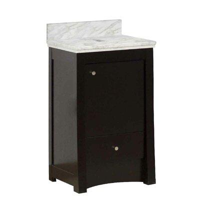 Vangundy 20 Single Bathroom Vanity Set Top Finish: Bianco Carrara
